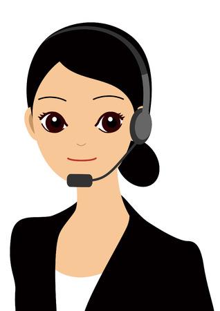 femme d affaire asiatique: Un op�rateur Illustration