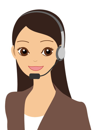 asian business woman: An operator Illustration