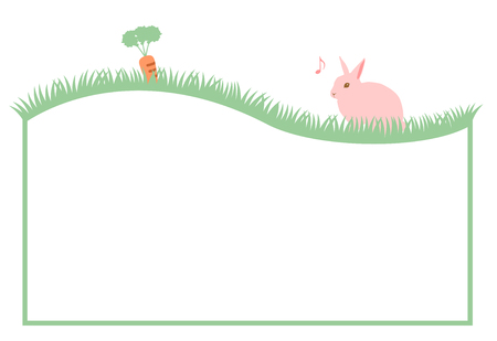 a rabbit and a carrot