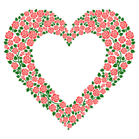 heart and roses Stock Vector - 8385312