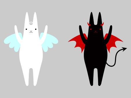 天使と悪魔  イラスト・ベクター素材