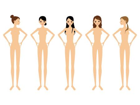 女性とヌード