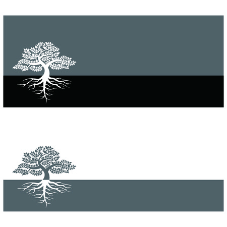 The scenery which has a big tree Stock Vector - 8385282