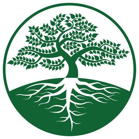 big scenery: A big tree and logo mark