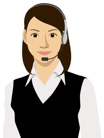Een werkende vrouw Vector Illustratie