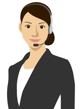 call center woman: Una mujer de trabajo