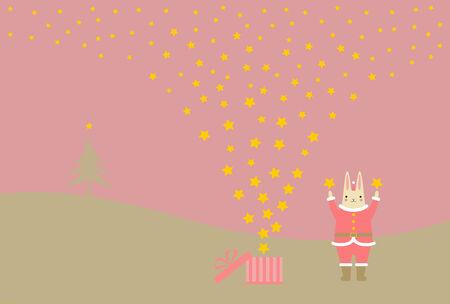 Scenery of Christmas  Illustration