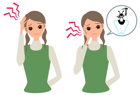 mal di denti: Una donna malata