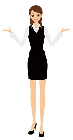 the explanation: businesswoman Illustration