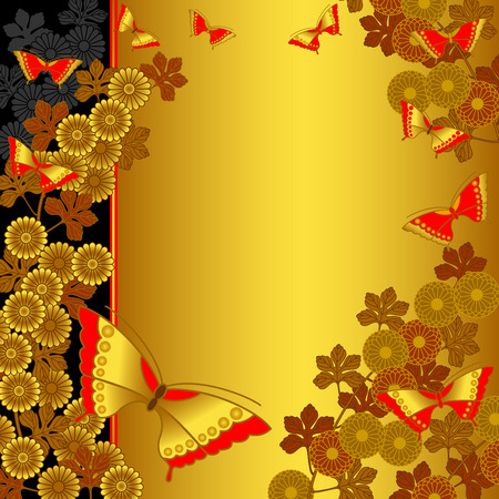 日本スタイルの背景  イラスト・ベクター素材