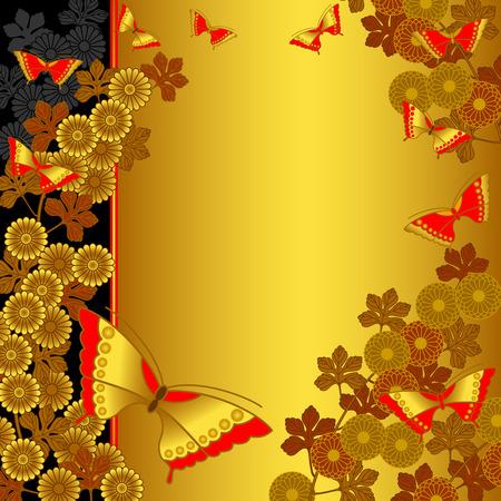crisantemos: Un fondo de estilo japon�s