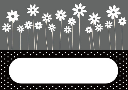 The background where a flower blooms  Stock Vector - 8434912