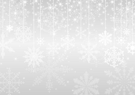 crystallization: winter background