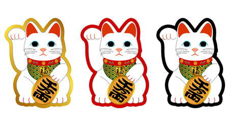 The ornament of the cat to put in hope of business prosperity Illustration