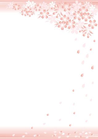 The background of the cherry tree design
