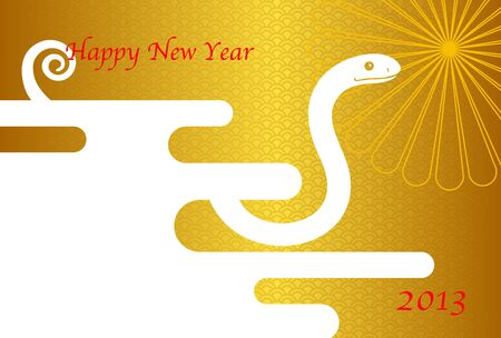 year snake: snake and New Year