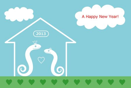 snake and New Year