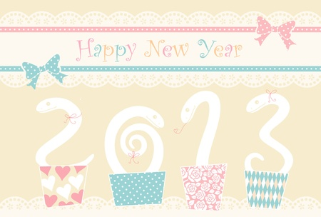 snake year: snake and New Year