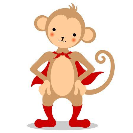 Monkey wearing a red cloak