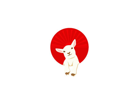 Japanese flag and Lamb