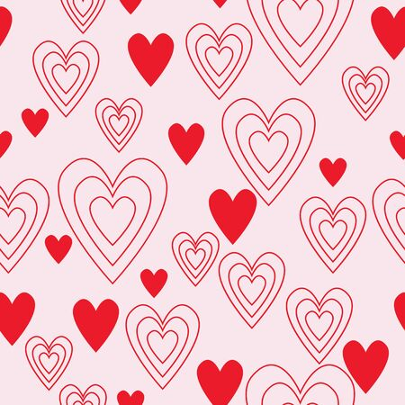 Heart vector seamless pattern for bed cover,textile,cushion cover,phone case, home decor,fabric,home furnishings, wallpaper,curtain,tiles,etc.