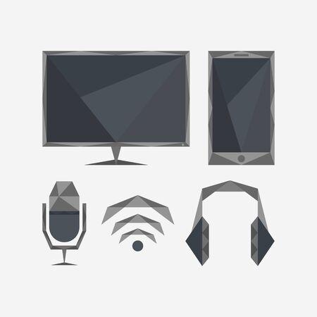 web icons: Geometric web icons
