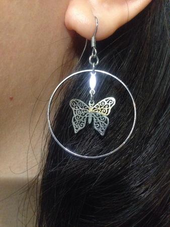 standard steel: Butterfly Earing