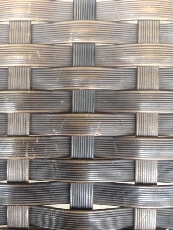woven: Wicker pattern chair Stock Photo