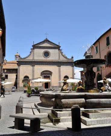 tuscania: Square of Tuscania. Lazio. Italy