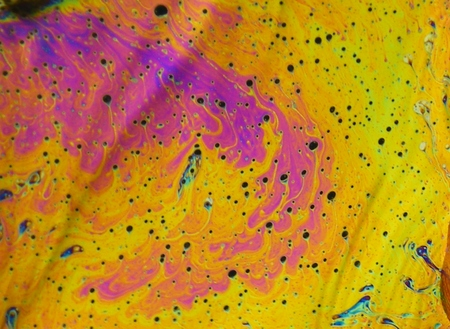 beautiful psychedelic abstraction - interference in soap films in reflected light