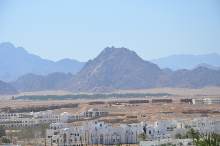 Landscapes streets of a large tourist center of Sharm El Sheikh taken by me during my stay in this city