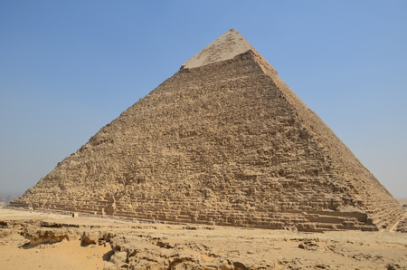 chephren: Egypt. Cairo - Giza. General view of pyramids from the Giza Plateau