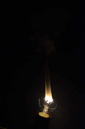 burning of the filament in the dark .