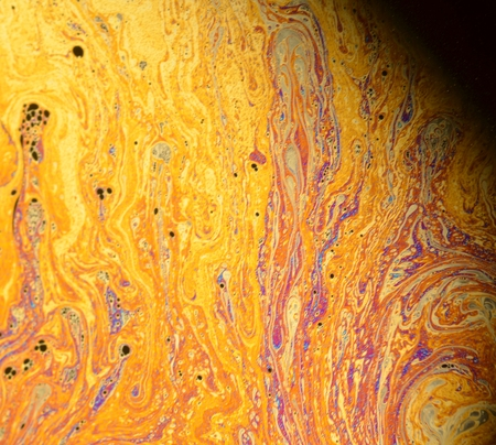 beautiful psychedelic abstraction - interference in soap films in reflected light. Stock Photo