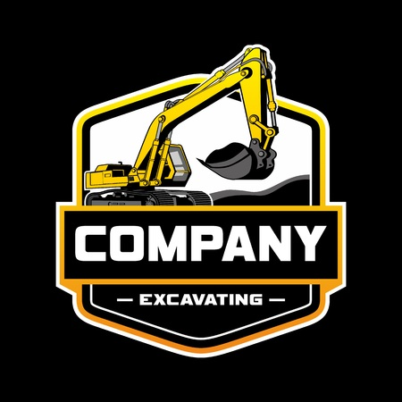 Excavator Logo Company Illustration