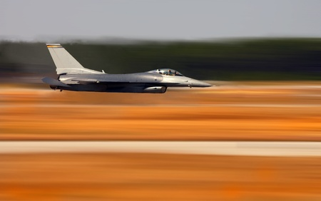 Image of a Navy F-18 Hornet During a Fly By Stock Photo - 10807463