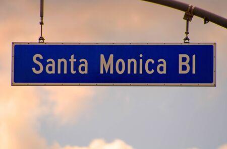 Image of Famous Santa Monica Blvd sign photo