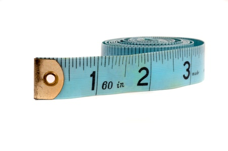 dietitian: Vintage isolated Old blue antique measuring tape