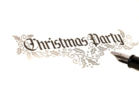 Calligraphy of christmas party invitation
