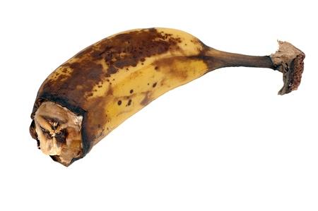Gros plan de la banane pourrie Banque d'images - 10999998