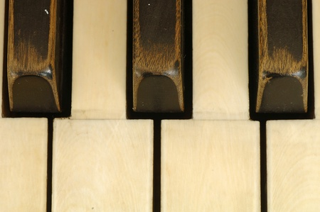 upright: Keys of very old piano