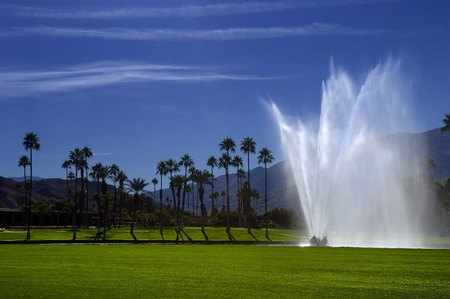 wager: Beautiful Fountain on Golf Course