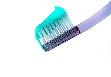 Toothbrush and toothpaste 版權商用圖片