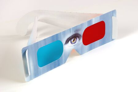 Isolated 3D Glasses Stok Fotoğraf