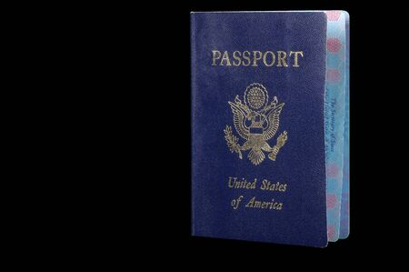 foreign nation: American Passport on Black