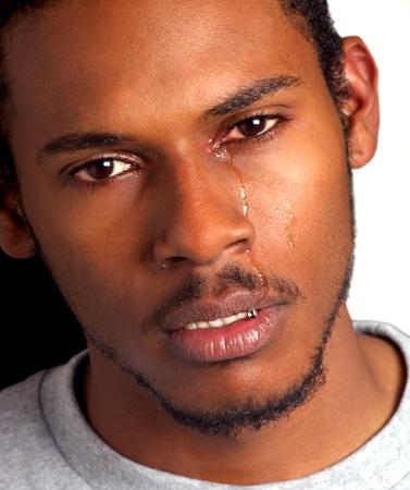 Crying Black Man photo