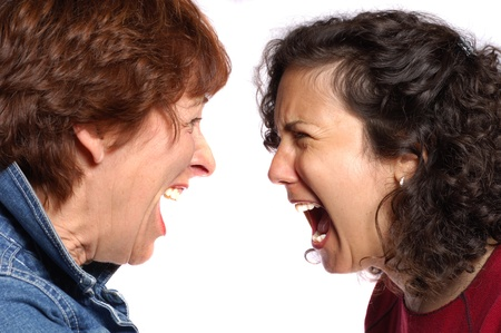 forgive: Sisters Arguing Stock Photo