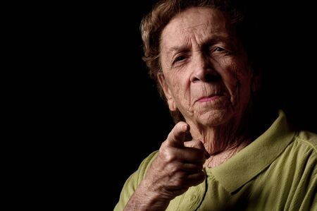 assertive: Mad Grandmother Stock Photo