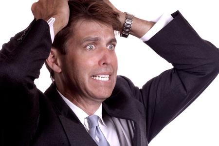 distraught: Distraught Businessman Stock Photo