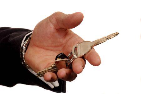 Executive with keys Stock Photo - 10999967